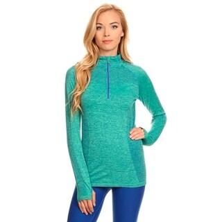 Active Living Women's Green Seamless Pullover Top