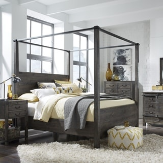 Abington Weathered Charcoal Poster Bed