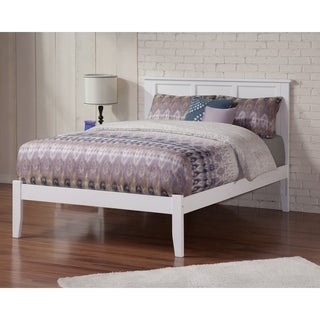 Madison White King-Size Platform Bed