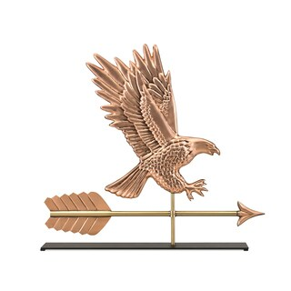 American Bald Eagle Pure Copper Weathervane Sculpture on Mantel Stand: Home Decor by Good Directions