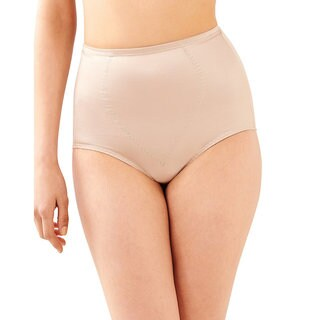 Bali Women's Cotton Blend Firm Control Tummy Panel Brief (2-pack)