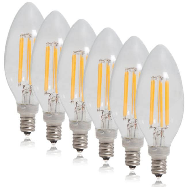 Maxxima Dimmable Clear Filament Candelabra LED Light Bulb...
