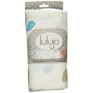 Lulujo Baby Whale Baby Muslin Cotton Swaddling Blanket