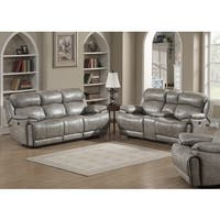 Estella Grey Contemporary Power Sofa and Loveseat with Storage Console (2-piece Set)