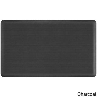 Designer Comfort Grasscloth Anti-fatigue Floor Mat (18 x 30 inches) (Option: Grey)
