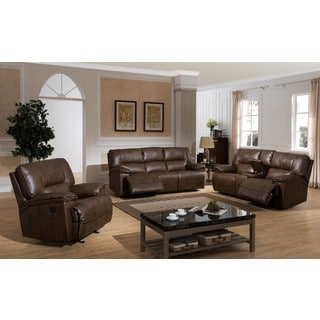 Dwayne Brown Contemporary Power Reclining Sofa, Loveseat, and Reclining Chair (3-Piece Set)