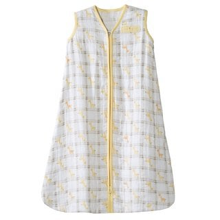 HaloYellow Giraffe SleepSack Cotton Muslin Wearable Small Blanket