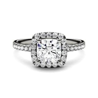 Charles & Colvard 14k White Gold 1 2/5ct DEW Forever One Near-Colorless Moissanite Halo Engagement Ring|https://ak1.ostkcdn.com/images/products/14743747/P21270362.jpg?impolicy=medium