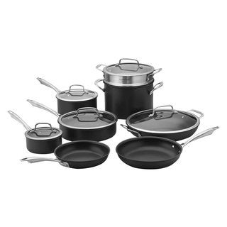 Cuisinart DSA13 Dishwasher Safe HardAnodized 13Piece Cookware Set, Stainless Steel