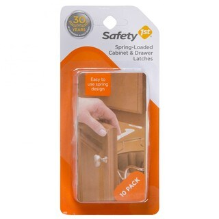Safety 1st Spring Loaded Cabinet and Drawer Latch (10-pack)