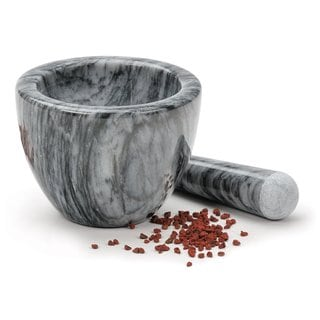 Gorgeous Grey Marble Mortar and Pestle