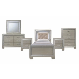Picket House Furnishings Glamour Youth Twin Platform 6PC Bedroom Set