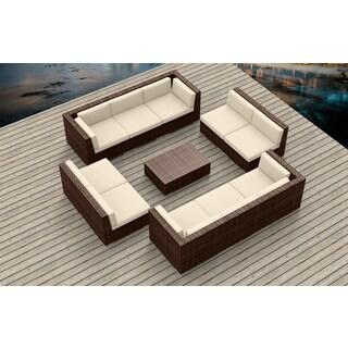 Urban Furnishing - BROWN SERIES 11a Modern Outdoor Backyard Wicker Rattan Patio Furniture Sofa Sectional Couch Set