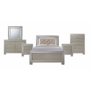 Silver Orchid Odette Glamour Youth Full Platform 6-piece Bedroom Set