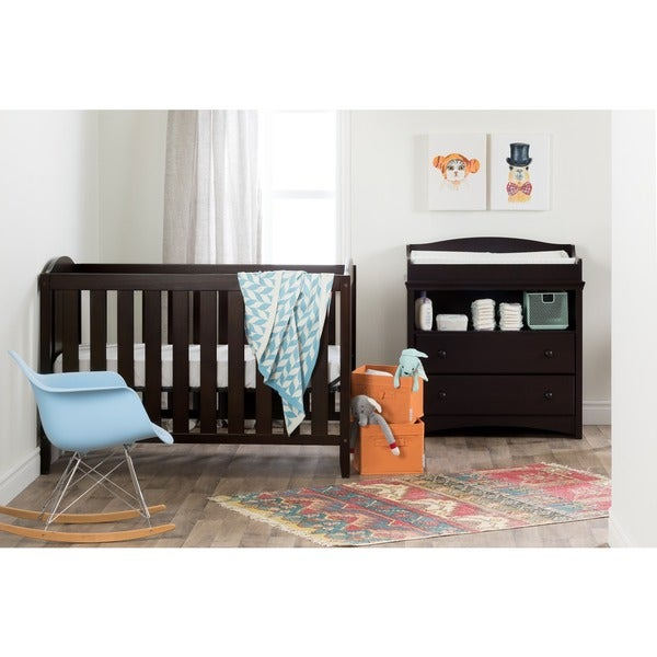South Shore Angel Crib And Toddleru0027s Bed   Free Shipping Today    Overstock.com   21270884