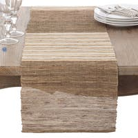 Textured Stripe Design Woven Table Runner