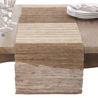 Textured Stripe Design Woven Table Runner