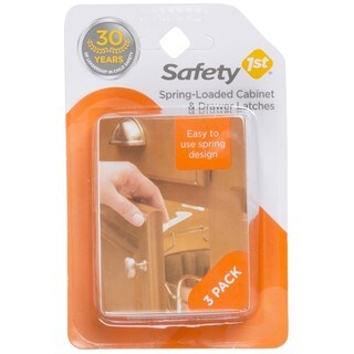 Safety 1st White Spring-loaded Cabinet and Drawer Latches (Pack of 3)