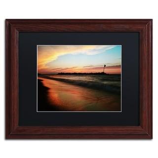 Jason Shaffer 'Lakeview Sunset' Matted Framed Art