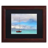 Jason Shaffer 'Hawaii 3' Matted Framed Art - Blue