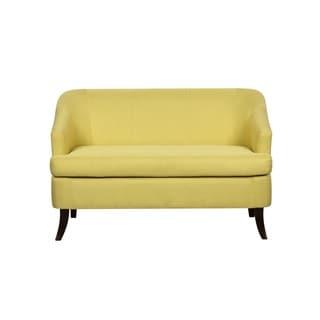 US Pride Furniture Monica Chic Linen Upholstered Modern Loveseat