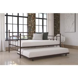 DHP Manila Bronze Full Size Metal Daybed and Twin Size Trundle