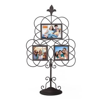 Link to Adeco Iron Metal Opening Decorative Wall-hanging Collage Picture Photo Frame Similar Items in Decorative Accessories