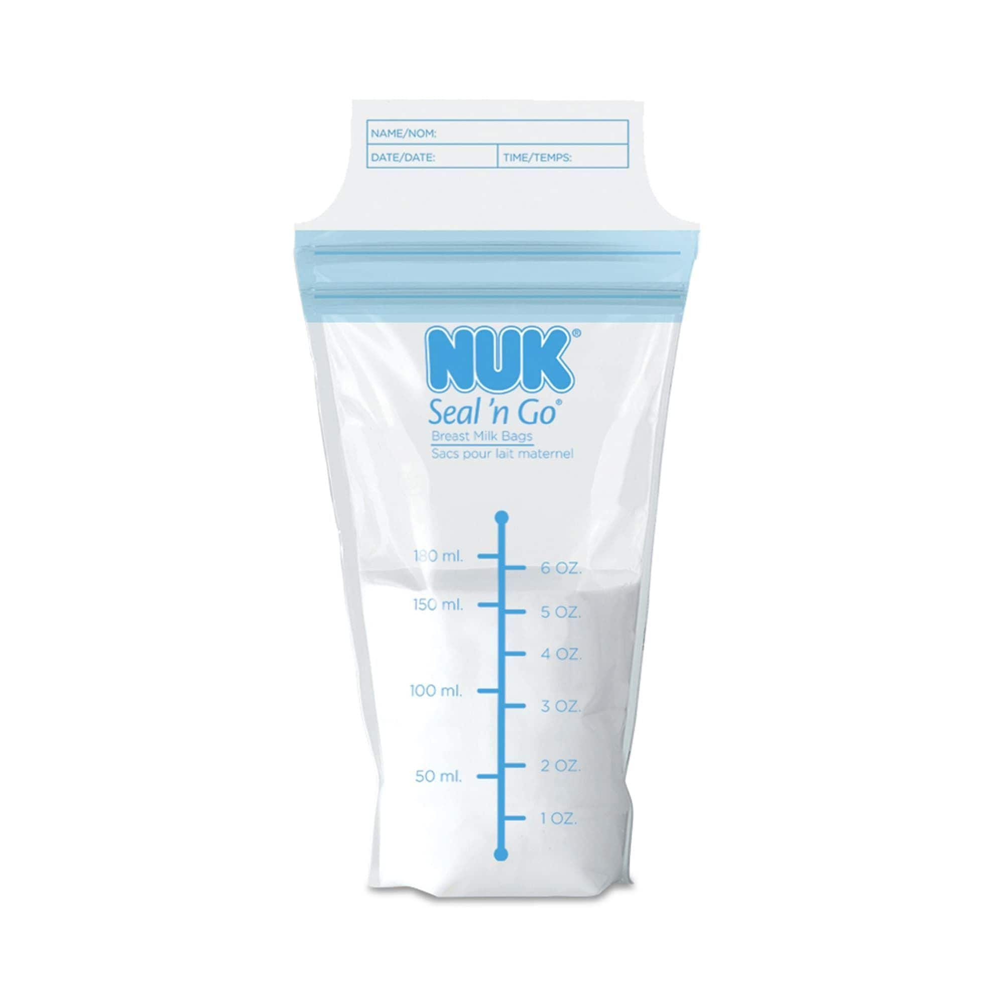 Nu-kote Seal 'n Go Breast Milk Bags (Pack of 25) (Clear),...