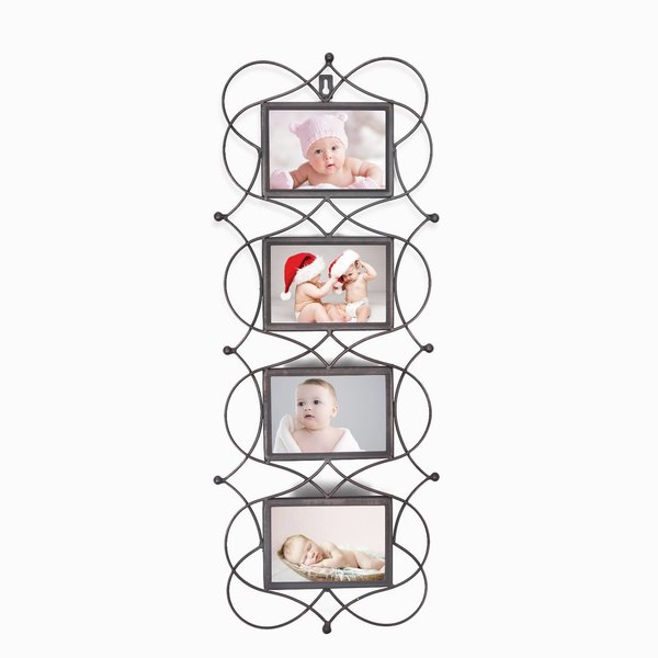 Adeco Iron Metal Opening Decorative Wall-hanging Collage Picture Photo Frame. Opens flyout.