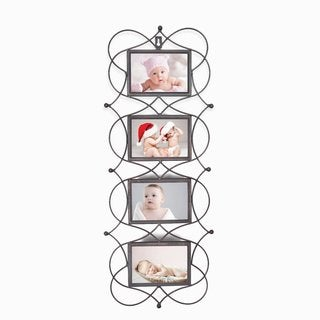Adeco Iron Metal Opening Decorative Wall-hanging Collage Picture Photo Frame