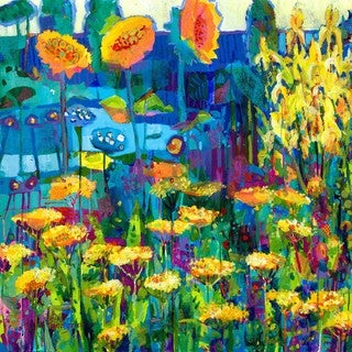 Yellow Garden II' Painting Print on Wrapped Canvas