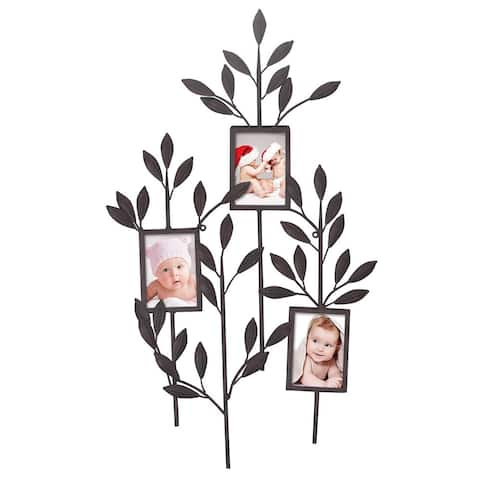 Adeco -Opening Decorative Metal Collage Photo Frame Wall Hanging