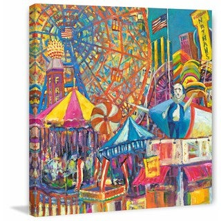 Coney Island' Painting Print on Wrapped Canvas
