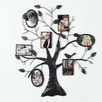 Adeco Brown Black Bronze Iron Metal Decorative Collage Wall-hanging Family Tree Picture Photo Frame
