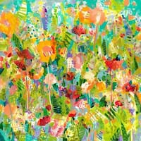 Colorful Garden' Painting Print on Wrapped Canvas