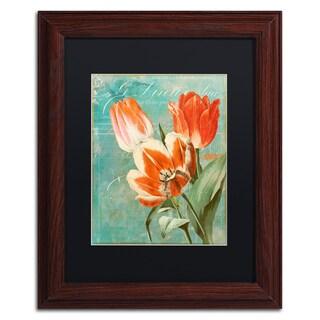 Color Bakery 'Tulips Ablaze II' Matted Framed Art