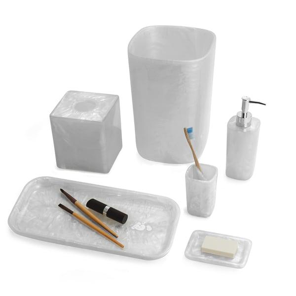 Murano White Faux Marble 6-Piece Bath Set
