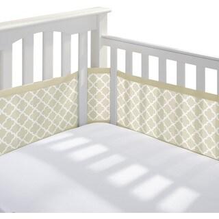 BreathableBaby Sand Clover Breathable Mesh Printed Crib Liner