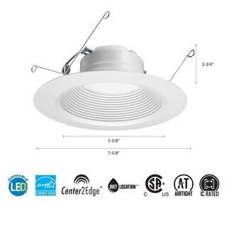 Lithonia Lighting 65BEMW LED 50K M6 5/6 Inch 11.9W White LED Recessed Baffle Module, 5000K