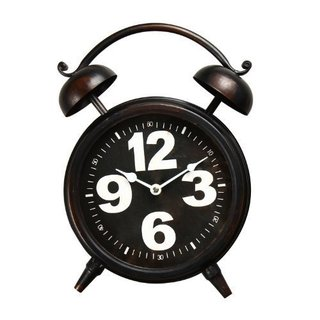 Adeco Old World-Inspired Retro Iron Alarm Clock