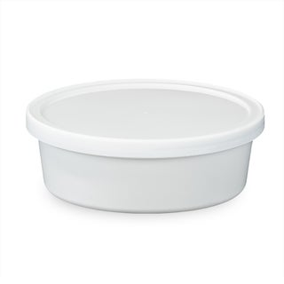 ePackageSupply White 8-ounce Food-grade Round Container with Lid (Case of 10 or 25)