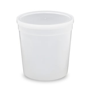 ePackageSupply Translucent Food Grade 1/4 Gallon (32 ounce) Round Containers with Lids (Packs of 10 or 25)