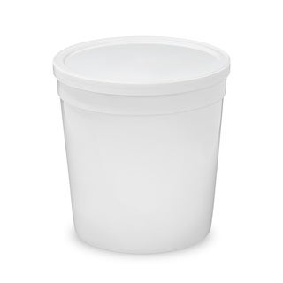 ePackageSupply White Plastic 32-ounce Food-grade Tall Round Container with Lid