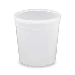 ePackageSupply Clear Food-grade Plastic 1/4-gallon Tall Round Containers With Lids (Case of 10 or 25)