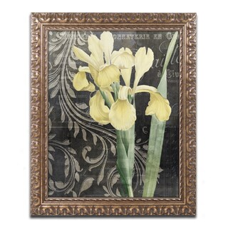 Color Bakery 'Ode To Yellow' Ornate Framed Art