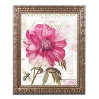 Color Bakery 'Pink Peony' Ornate Framed Art - Pink