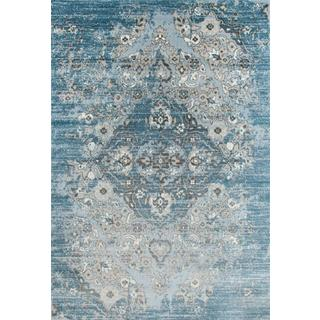 Persian Rugs Vintage Antique Designed Blue/Beige Area Rug (6'5 x 9'2)