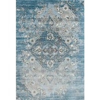 Persian Rugs Vintage Antique Designed Blue/Beige Area Rug - 6'5 x 9'2