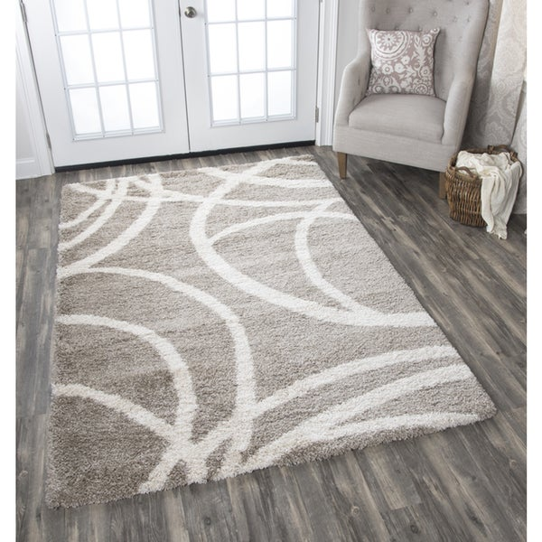 Adana Cream Circles Area Rug - 7'10 x 10'6