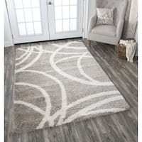 "Adana Cream Circles Area Rug - 7'10"" x 10'6"""